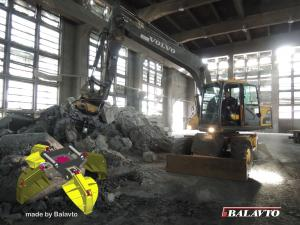 Polyp grab for Vovlo excavator